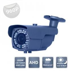 AHD camera WZ-950 AHD  black IR 36 LED IR CUT - 960P metal - Waterproof