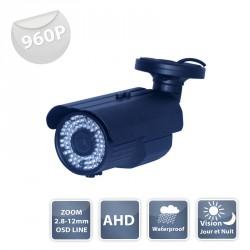 Camera WZ-1100 AHD black IR 72 LED IR CUT - 960P metal - Waterproof