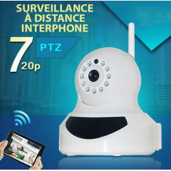 Indoor PTZ Wireless wifi IP Camera PTZ16- 720P WIFI - angle rotary control: 90 °, 355 °.