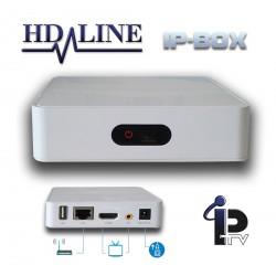 HD-LINE IP-Box Décodeur chaines IPTV HD Ethernet LAN - Compatible WiFi + Abonnement 24 mois