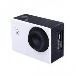 "Mini camera sport BLANC HD 1080p LCD 1,5"" TFT 170 degres Waterproof + accessoires"