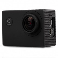"""Mini caméra sport NOIR HD 1080p LCD 1,5"""" TFT 170 degrés Waterproof + accessoires"""