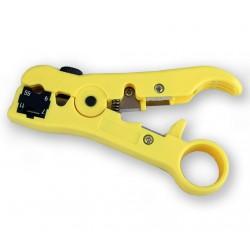 DENRG11-7 Dénudeur de cable multi-fonctions pour RG59 RG6 RG11 RG17 coaxial et cable téléphone - lame ajustable