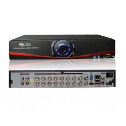 HD-LINE Enregistreur DVR 16 sorties Hybride  AHD et IP - H.264 Vidéosurveillance caméras AHD 960P et IP 1080P