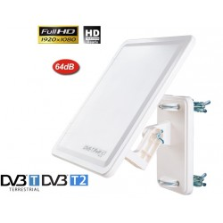 DVB-T FLAT  UNIVERSAL ACTIVE  DIGITAL TV AERIAL ANTENNA
