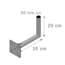 Fixation Murale L Antenne Et Parabole 25X35Cm - Diamètre 60mm