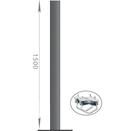 FIXATION BALCON ANTENNE ET PARABOLE 150cm