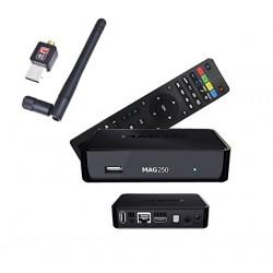 MAG 250 + W-LAN Stick - IPTV Multimedia Set Top Box