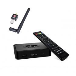 MAG 254 + W-LAN Stick - IPTV Multimedia Set Top Box