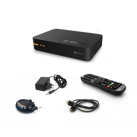 WETEK OpenElec Mini Box IPTV + Satellite DVB-S2 WIFI Dual-Core Mediacentre IPTV Vidéo Musique KODI ex Xbmc ...