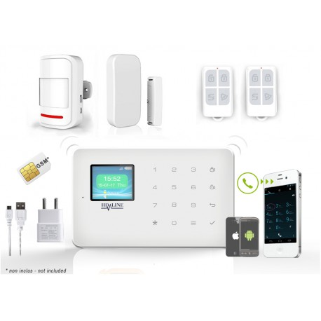 HD-LINE AL-18 Wireless GSM Alarm System + APP + PIR / Door sensor with remote control