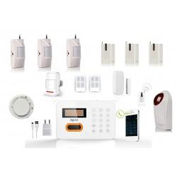 HD-LINE AL-10 Wireless Alarm System + 3x PIR / Door sensors + smoke sensor + strobe sirene + remote control