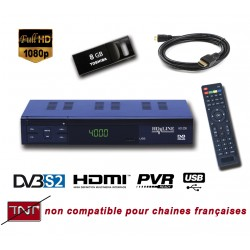HD-LINE HD-250 + CLE USB 8Go Demodulateur satellite HD PERITEL FTA Chaines gratuites