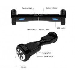 6.5 Inch Hoverboard 2 wheels Self Balance Scooter Hover Board With LED Light