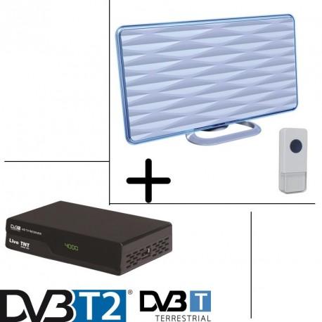 demodulateur DVB-T2 + antenne terrsetre