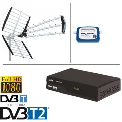 kit ANTENNE TNT DVB-T IKUSI FLASH HD + DEMO + POINTEUR TERRESTRE