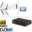 kit ANTENNE TNT DVB-T IKUSI FLASH HD + DEMO + POINTEUR TERRESTRE