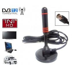 HD-LINE HD-980T Antenne terrestre TNT HD DVB-T / DVB-T2 intérieure - Gain 30dB - Portable