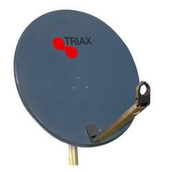 Triax - Adt78 - Parabole 78Cm Anthracite En Acier Galvanise