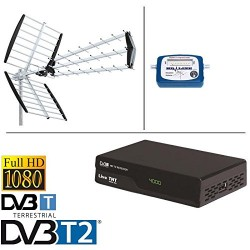 Kit ANTENNE TNT 18 DB + MINI DEMO + POINTEUR TERRESTRE + CABLE