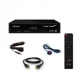 KIT STRONG SRT 7404 Décodeur TNTSAT Récepteur satellite + Déport IR + Cable Allume-cigare + HDMI