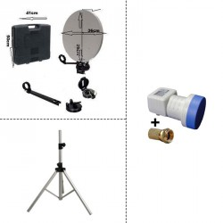 Trepied + kit camping avec LNB Single