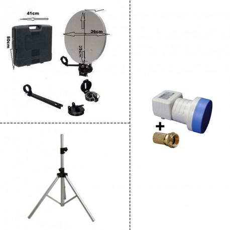 Trepied + kit camping avec LNB Single
