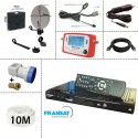Kit camping: PARABOLE 37CM + LNB SINGLE + SF-500 + ALLUME CIGARE+  Deport IR Jack + Cable 10M + DIGIHOME DSF-300HD 12/220V