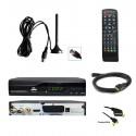 Kit TNT Décodeur HD DVB-T2 H.265 + mini antenne TNT HD-975T