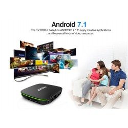 R69 allwinner H3 android tv box  TV 7.1, 2GB DDR4, 16GB eMMC Touchpad Viererkabel 64bit Cortex-A53, WI-Fi 2.4Ghz, 3D, 4K HD