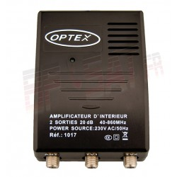 OPTEX amplificateur d'intérieur 2 sorties TV - TNT