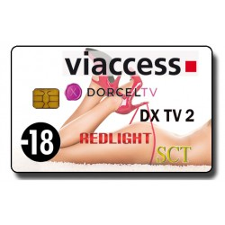 CARTE VIACCESS 4 CHAINES Dorcel, Redlight, DxTv 2, SCT 6 - Abonnement 6 mois