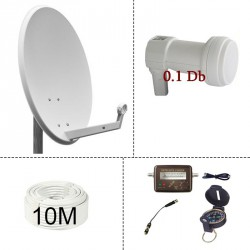 KIT PARABOLE 60cm + kit satfinder + cable 10m + LNB