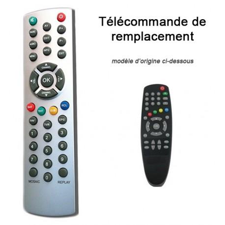 Télécommande de remplacement FRANSAT CYBEST CF100 STRONG GLOBSAT GS1000