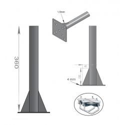 FIXATION BALCON ANTENNE ET PARABOLE 36cm