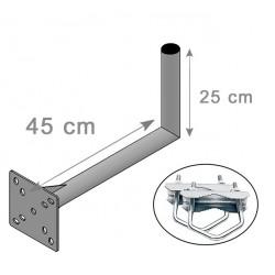 FIXATION  L  BALCON  ANTENNE ET PARABOLE 25X45cm