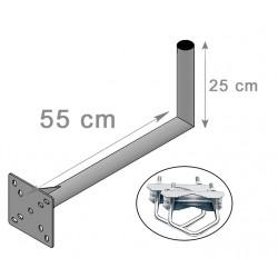 FIXATION L BALCON ANTENNE ET PARABOLE 25X55cm