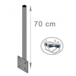 FIXATION BALCON DROIT 70cm ANTENNE ET PARABOLE