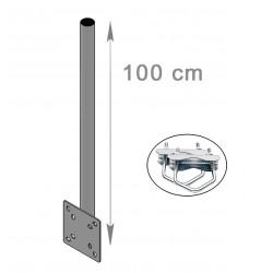 FIXATION BALCON DROIT 100CM ANTENNE ET PARABOLE - 1 METRE