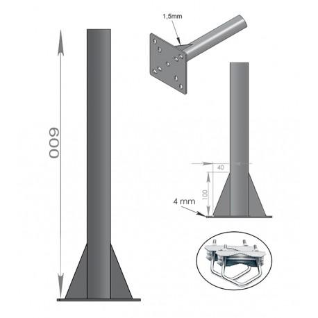 FIXATION BALCON SOL PLAFOND - ANTENNE ET PARABOLE 60cm