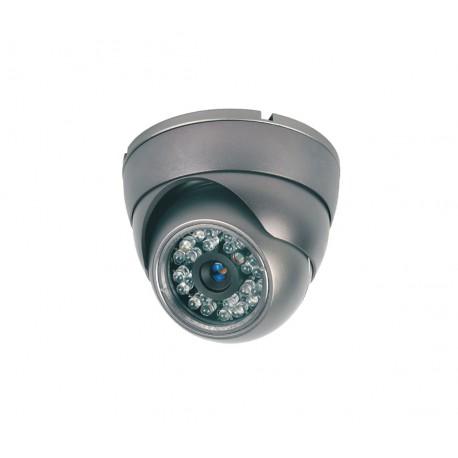 Camera de surveillance MD-200G Dome CCTV gris IR 24 LED - Couleur 420TVL métal