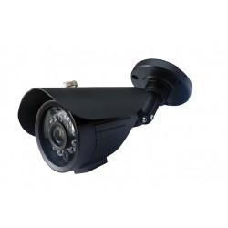 Camera de surveillance WP-500B CCTV noire IR 24 LED IR CUT - Couleur 700TVL métal