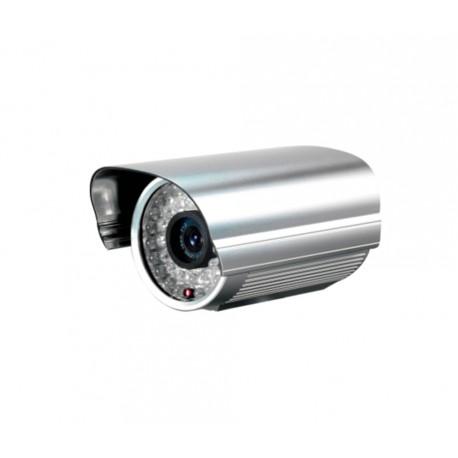 Caméa de surveillance blanche PL-50B IR LED - fiches BNC mâle/femelle