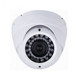 Camera de surveillance MD-450W Dome CCTV blanche IR 36 LED Vari Focus - Couleur 650TVL métal