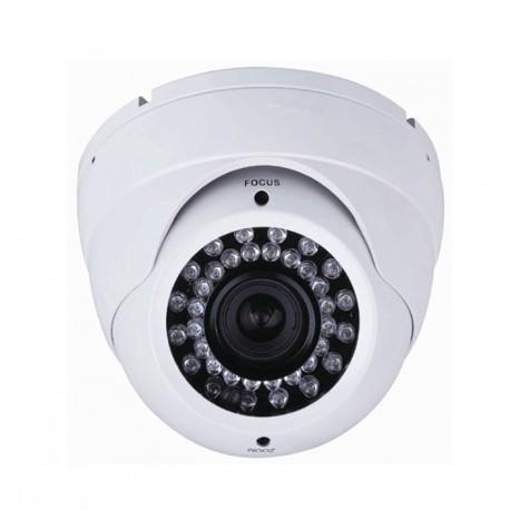 Camera de surveillance MD-450W Dome CCTV blanche IR 36 LED Vari Focus - Couleur 650TVL métal