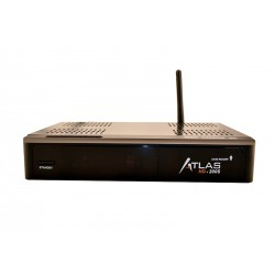 Cristor Atlas HD-200s - Terminal numerique HD double tuner - 1 lecteur de carte - USB - WiFi - Ethernet - Dongle