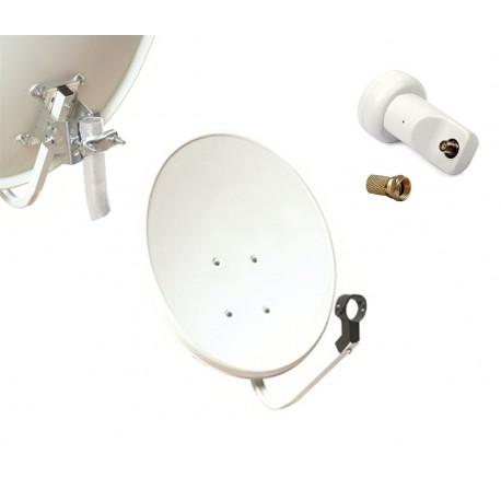 Kit HD-LINE Basic Parabole 60cm acier + LNB Single + 1 connecteur