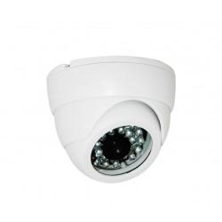 Camera de surveillance PL-50W Dome CCTV blanche IR 24 LED - Couleur 420TVL plastique