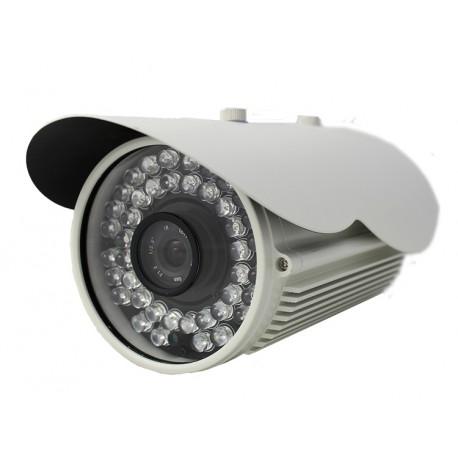 Camera de surveillance WP-900W CCTV blanche IR 42 LED IR CUT - Couleur 1200TVL métal - Compatible 960H