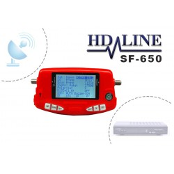HD-LINE SF-650 SATFINDER Pointeur satellite digital avec batterie - Reglage de parabole